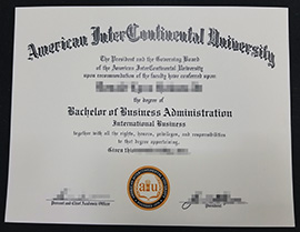 Buy American Intercontinental University (AIU)  diploma