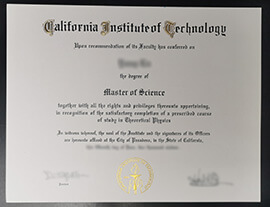 Purchase California Institute of Technology fake degree