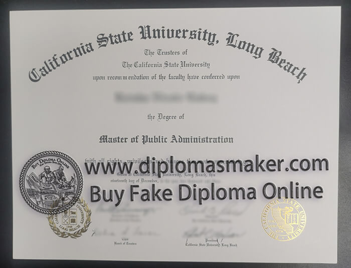 California State University Long Beach degree