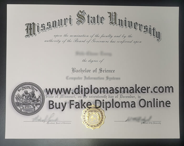 buy Missouri State University degree