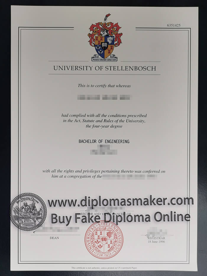 buy University of Stellenbosch degree