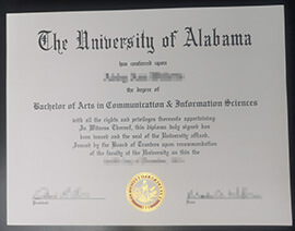 Buy University of Alabama diploma online