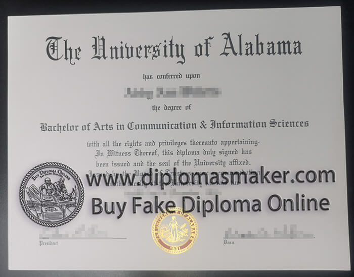 buy University of Alabama diploma