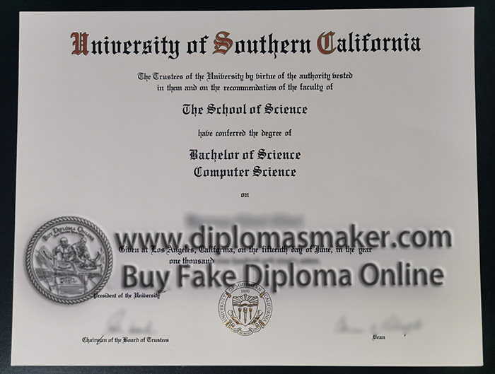 University of Southern California degree