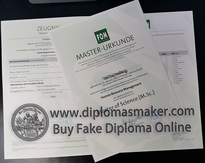buy fake FOM Hochschule certificates
