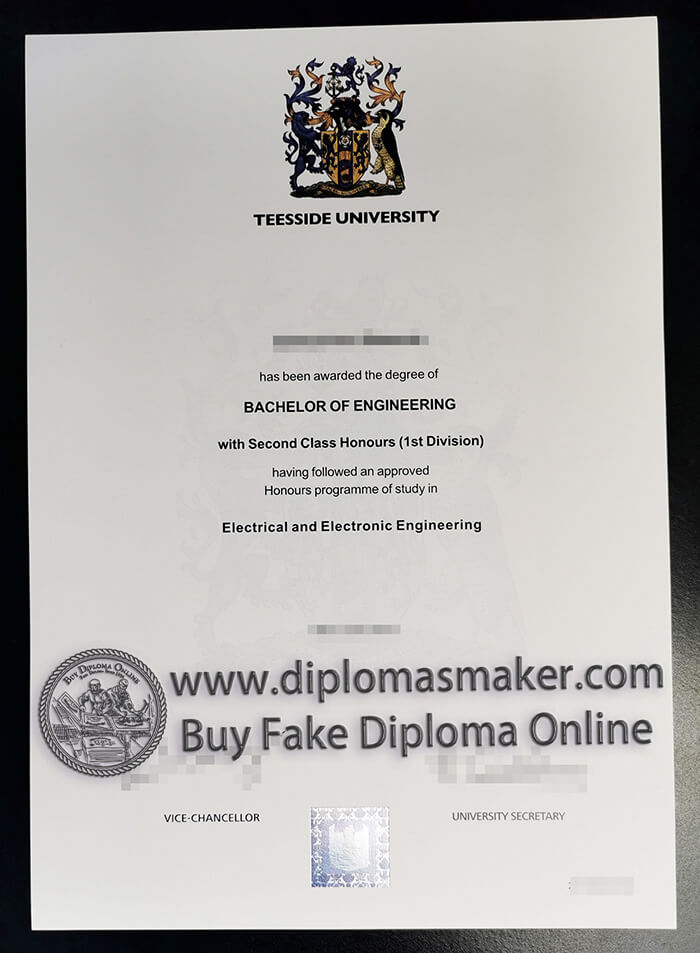 buy fake Teesside University degree