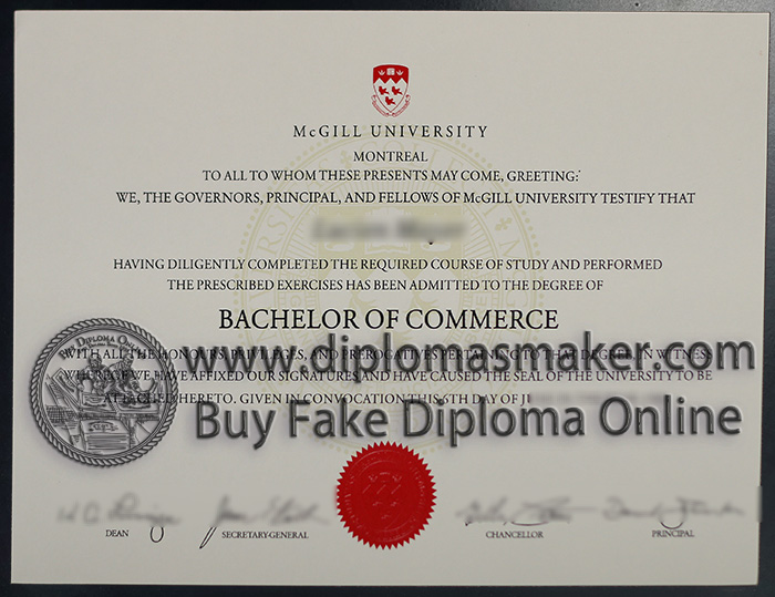 buy McGILL University diploma