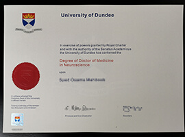 How to buy a degree from Dundee University?