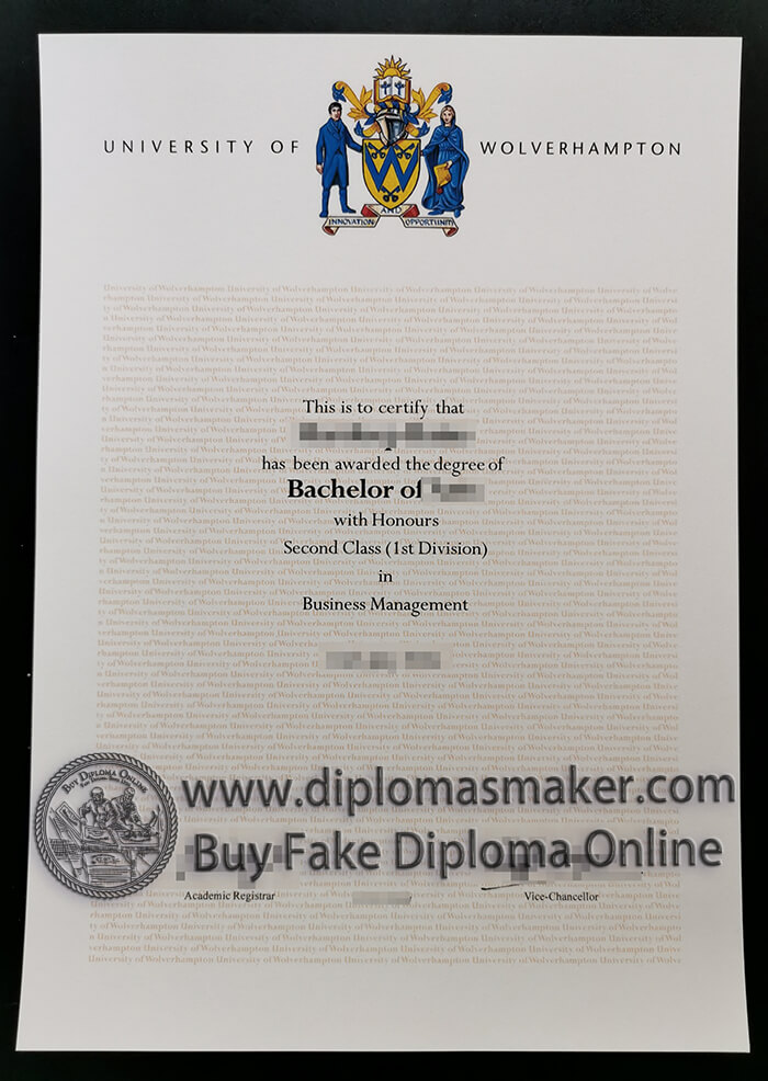 buy fake University of Wolverhampton degree