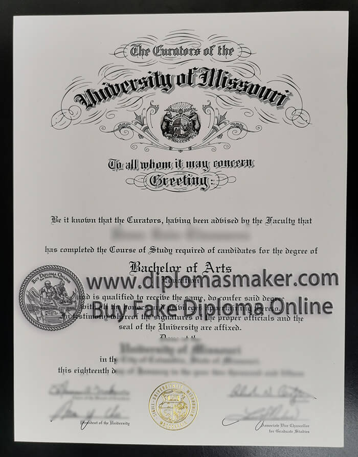 buy fake University of Missouri degree,