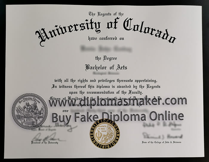 University of Colorado diploma