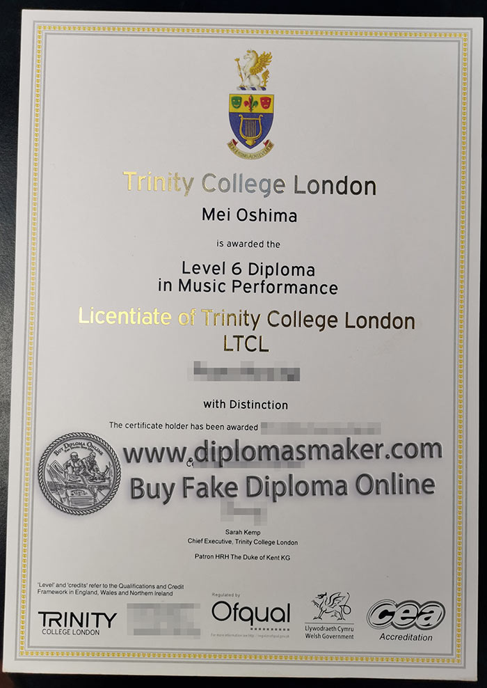 TCL fake diploma and transcript from UK