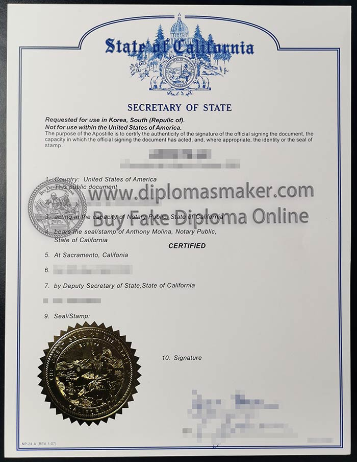 Where can I buy fake diploma certificates for state of californi