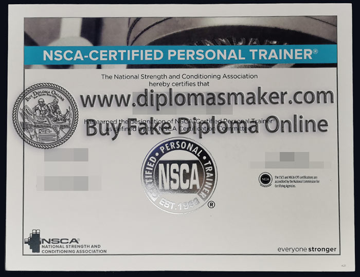 Where can I buy the NSCA CSCS certificate