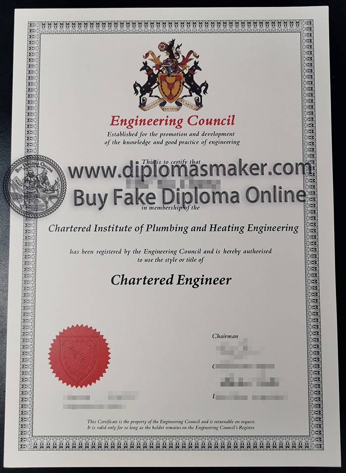 United Kingdom engineering council certificate