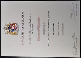 How about buy a University of Aberdeen fake degree-Aberd fake degree