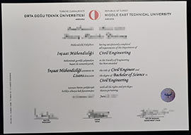 Middle East Technical University BEng  fake dgree diploma