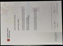 Australian Charles Sturt University fake diploma Sample-CSU fake degree
