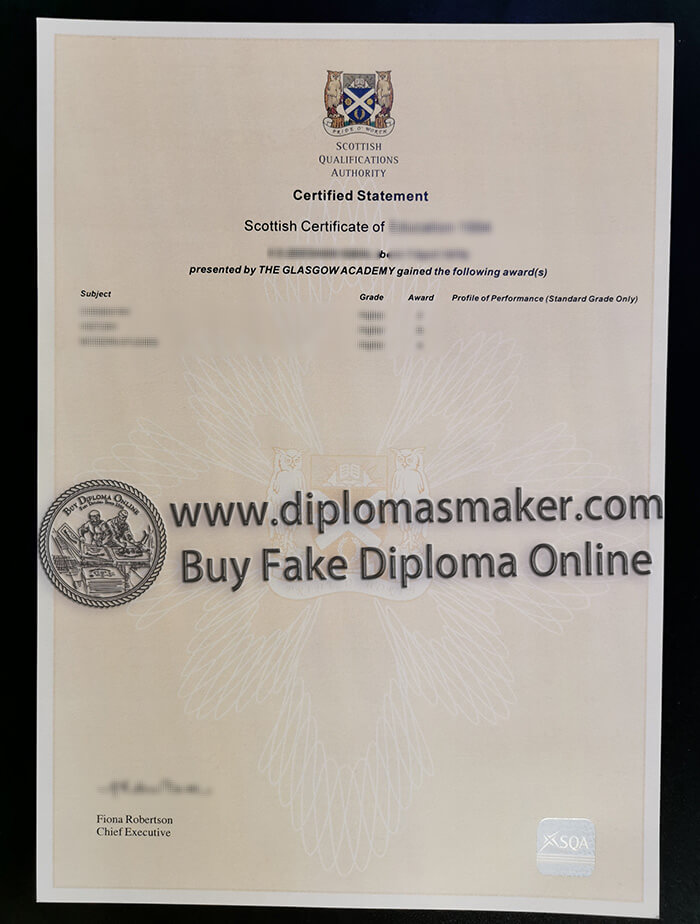 Buy Scottish Qualifications Authority Certificate online