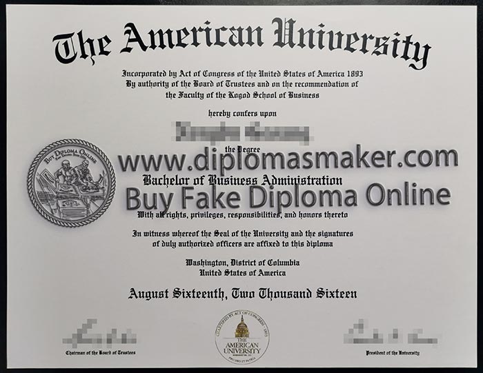 the american university diploma
