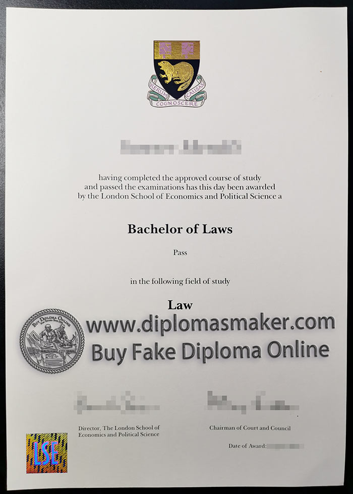 LSE Fake Diploma | The London School of Economics and Political Science Degree Sample