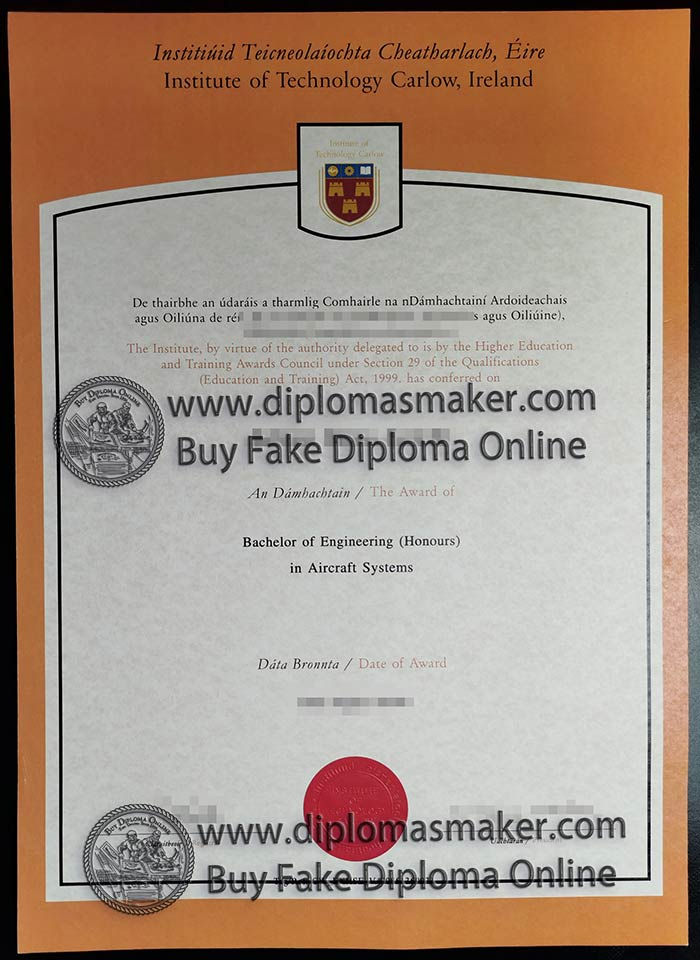 How to purchase a fake Institute of Technology, Carlow diploma from Ireland?