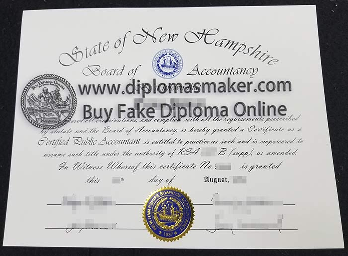 Where to Buy State of New Hampshire CPA Certificate