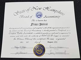 Where to Buy State of New Hampshire fake CPA Certificate