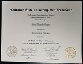 California State University San Bernardino Degree sample-Buy fake CSUSB diploma