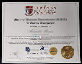 Buy Fake European International University Diploma Online-EIU Fake Degree