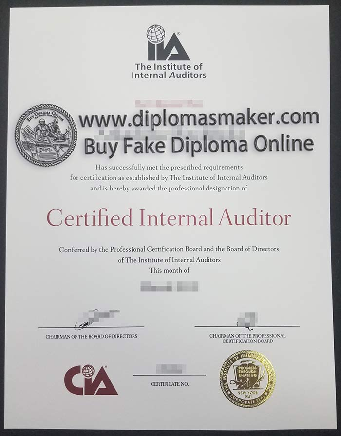 How Much Does A Fake Certified Internal Auditor (CIA) Certificate Cost?