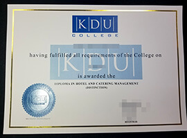 Quickly Purchase KDU College Fake Diploma Certificate.