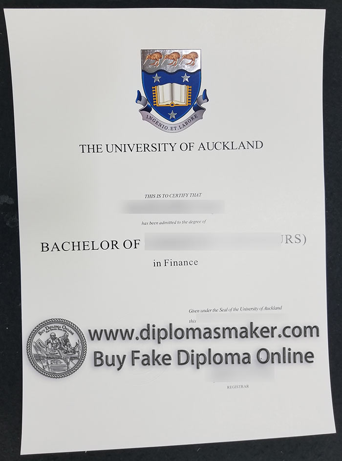 Buy The University Of Auckland Fake Degree Certificate