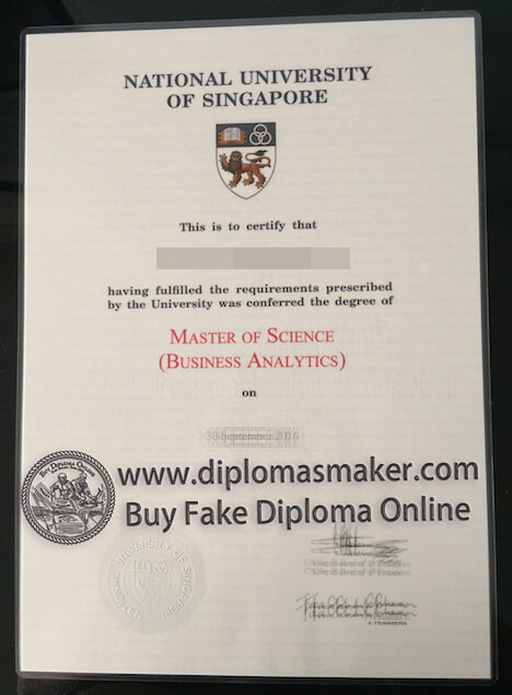 National University of Singapore diploma