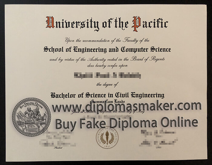 Buy Univversity of the Pacific diploma