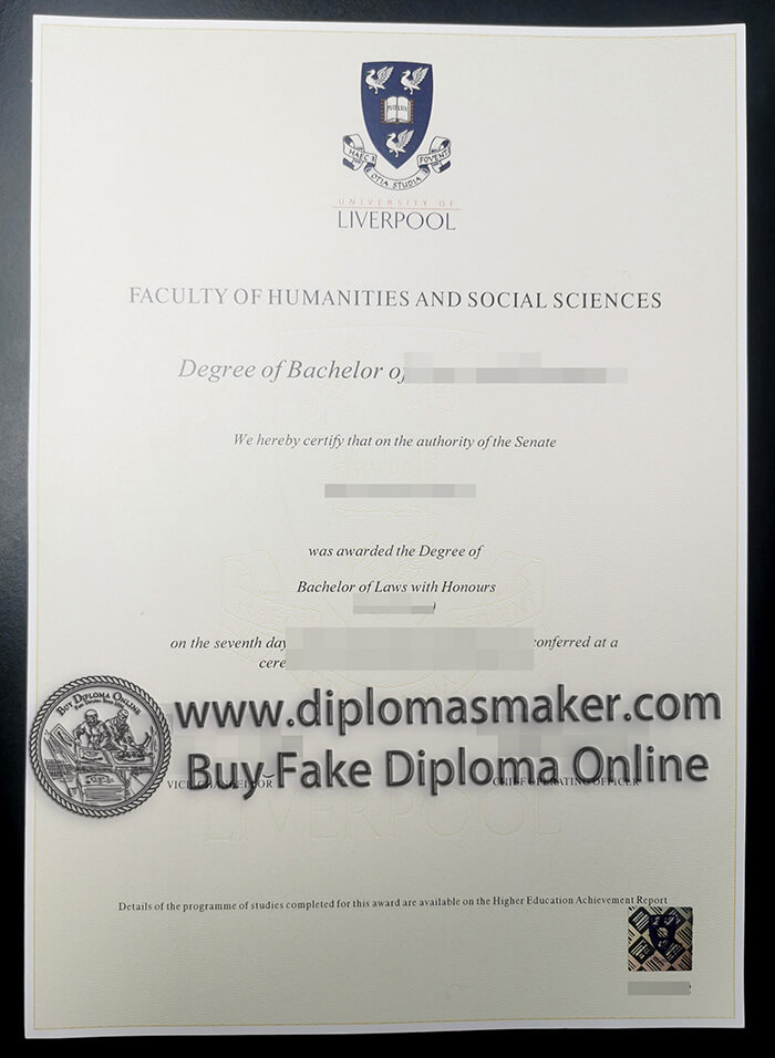 where to buy University of Liverpool diploma