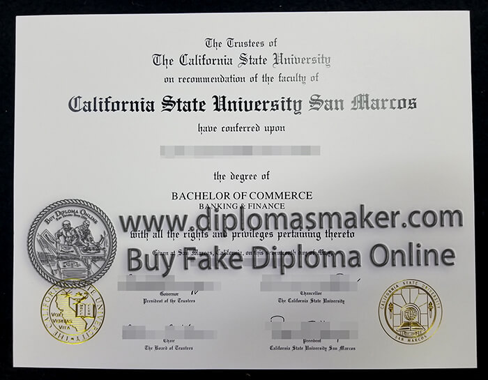 California State University San Marcos degree,
