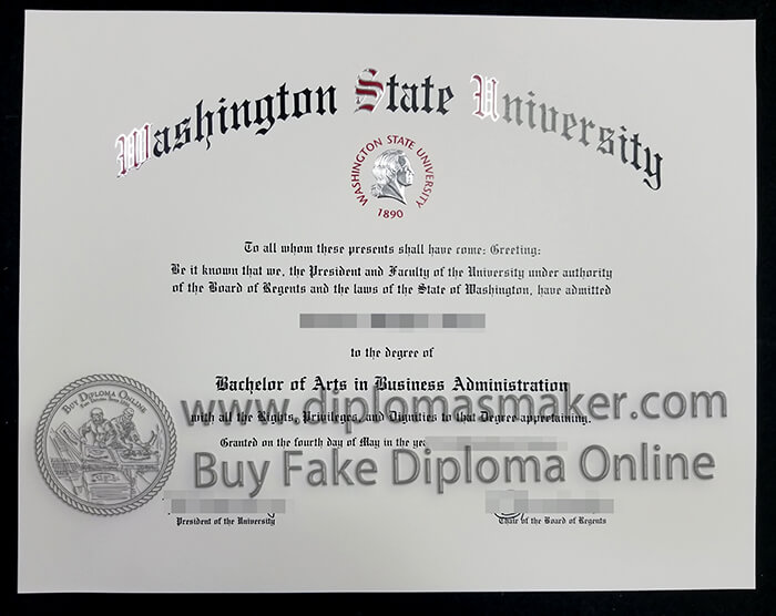 Buy Washington State University diploma
