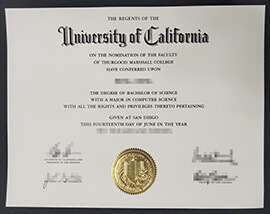 Where Can I Buy UC San Diego diploma? Buy UC Fake Degree