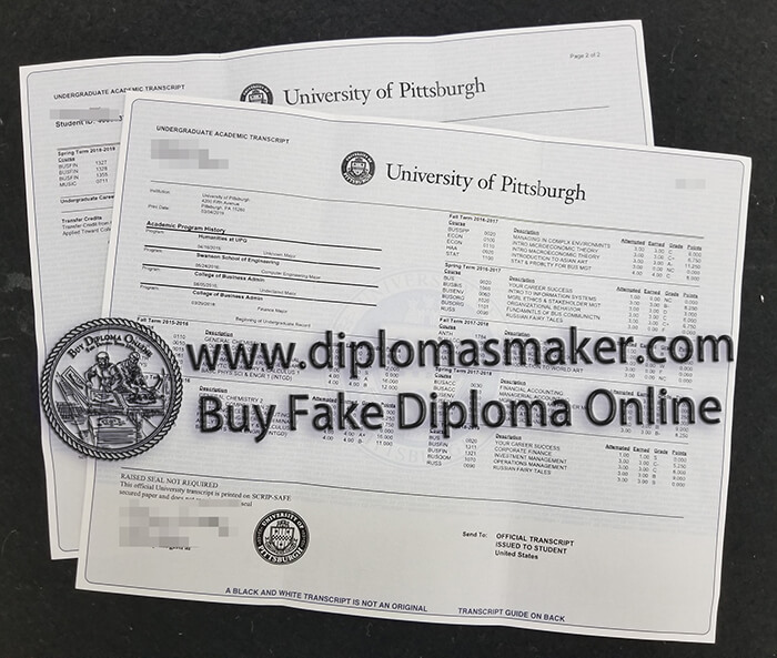 how to buy fake University of Pittsburgh diploma