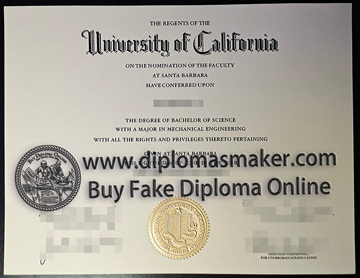 buy fake UC Santa Barbara diploma