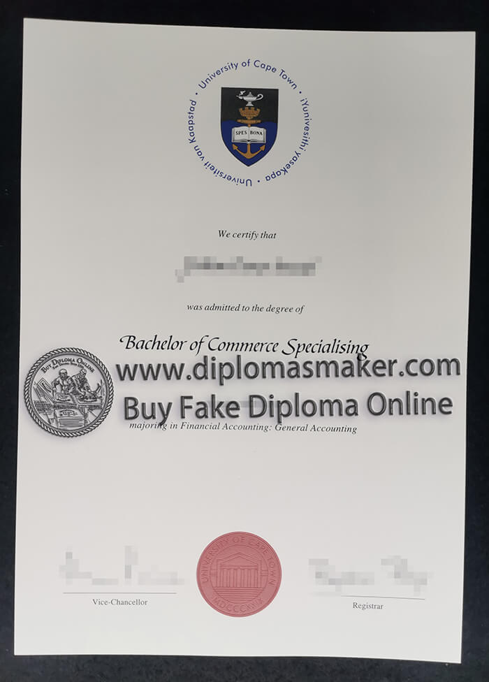 buy fake University of Cape Town(UCT) diploma