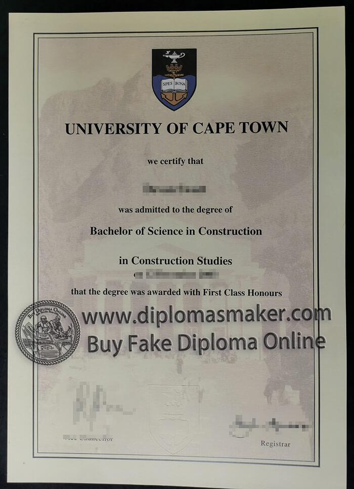 how to buy fake University of Cape Town diploma