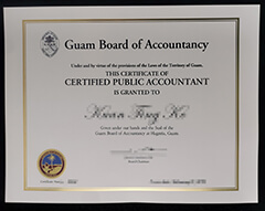 Where to buy fake Guam Board of Accountancy certificate?