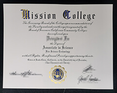 Where can I buy a certificate from Mission College?