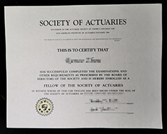 How much does the fake Society of Actuaries(SOA) certificate cost?