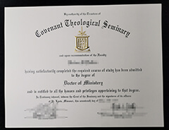 I finally bought a fake Covenant Theological Seminary diploma online.