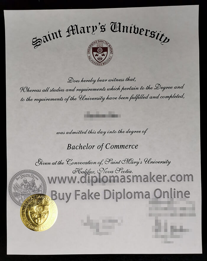 buy fake Saint Mary's University diploma