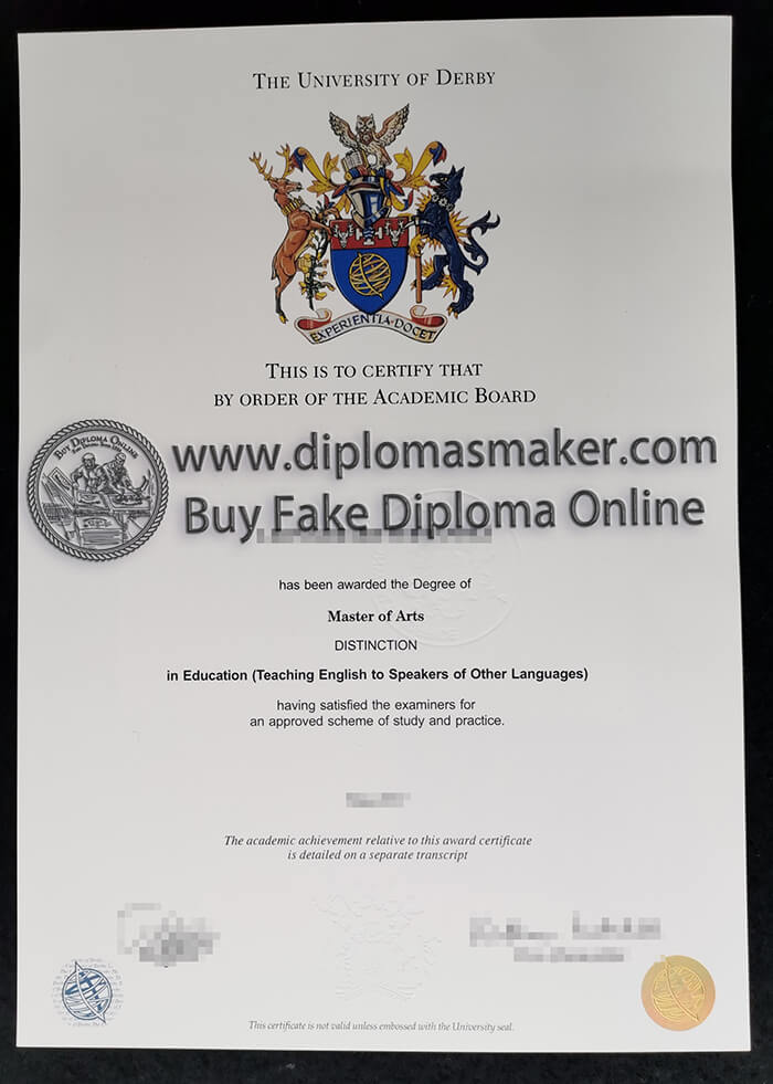 buy fake University of Derby diploma