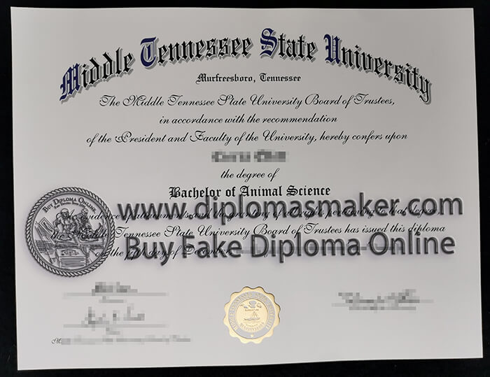 buy fake Middle Tennessee State University diploma